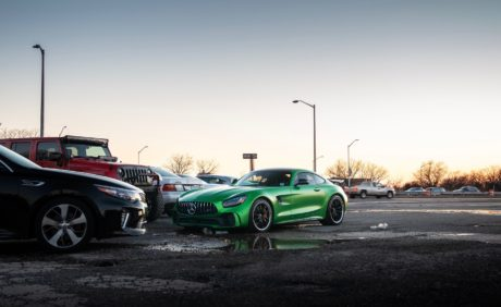Green Mercedes-Benz AMG GTR