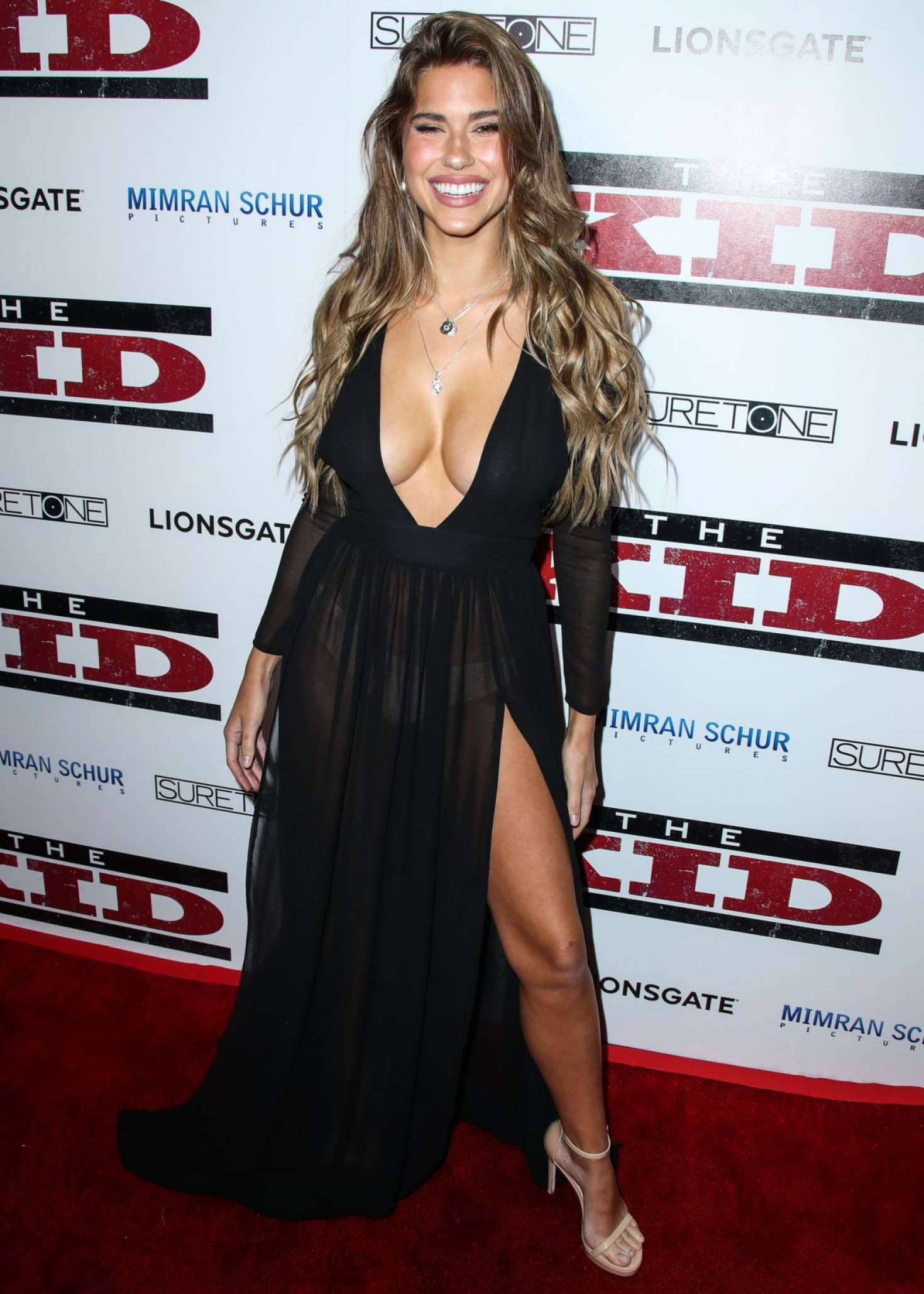 happy Kara Del Toro at the 'The Kid' Premiere, 2019