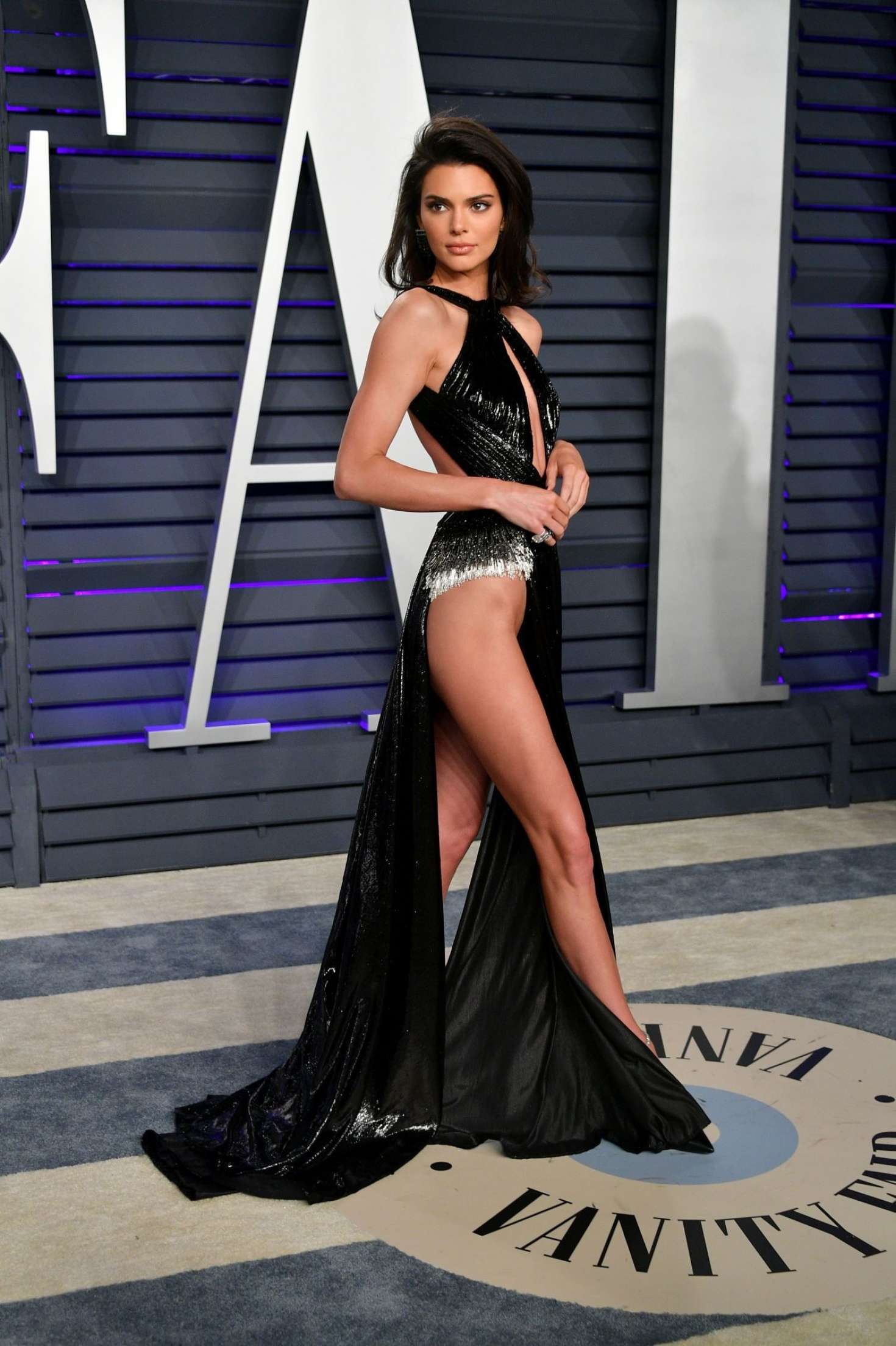 hot Kendall Jenner at Vanity Fair Oscar Party in Beverly Hills, 2019