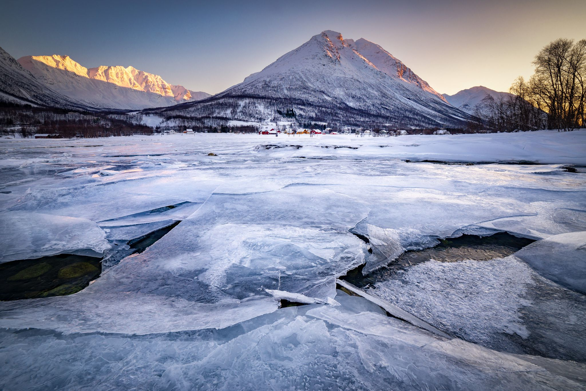 ice water, ramfjord, mountain, Norway