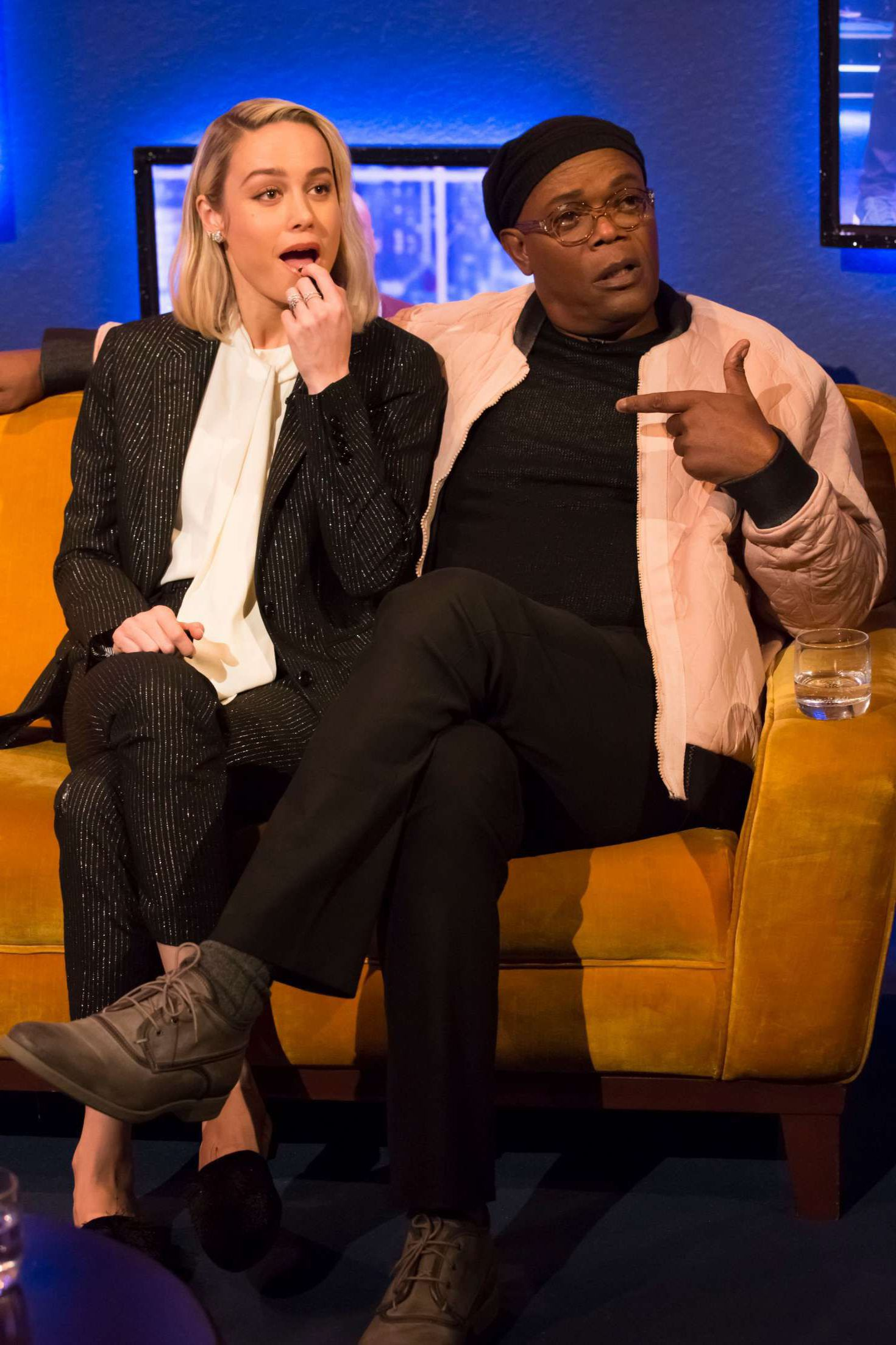 surprised Brie Larson and Jonathan Ross