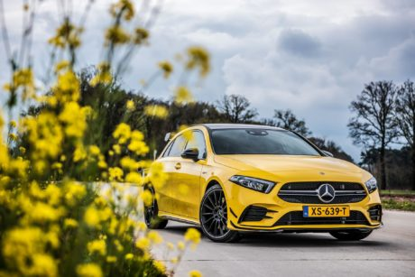 2019 Yellow Hatchback Mercedes-Benz AMG A35