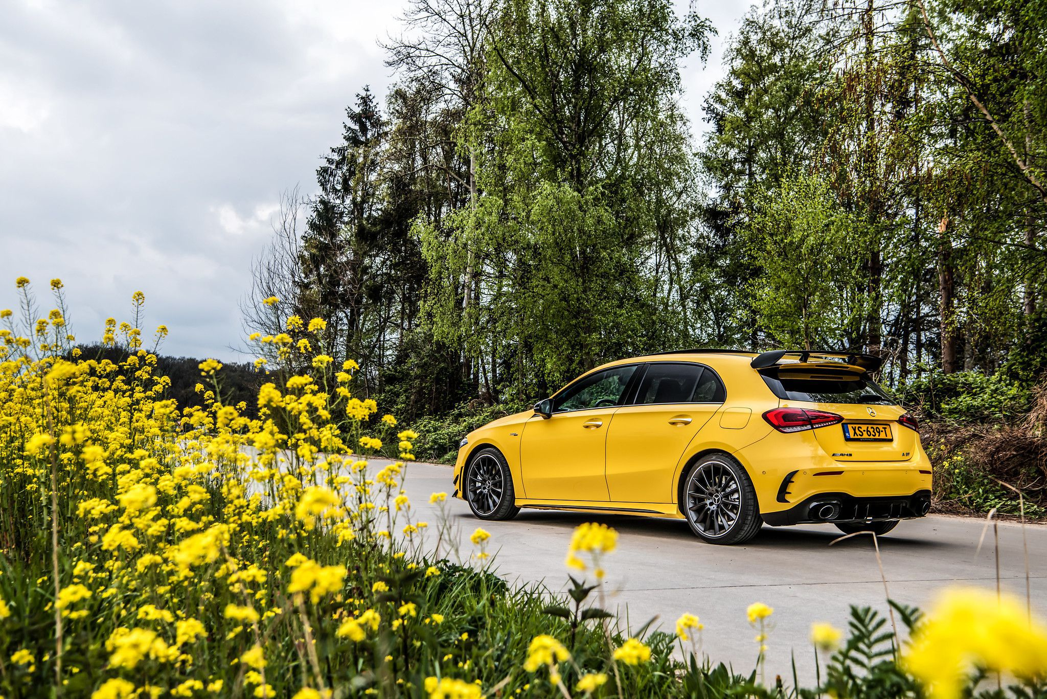 2019 Mercedes AMG A35 in yellow colour