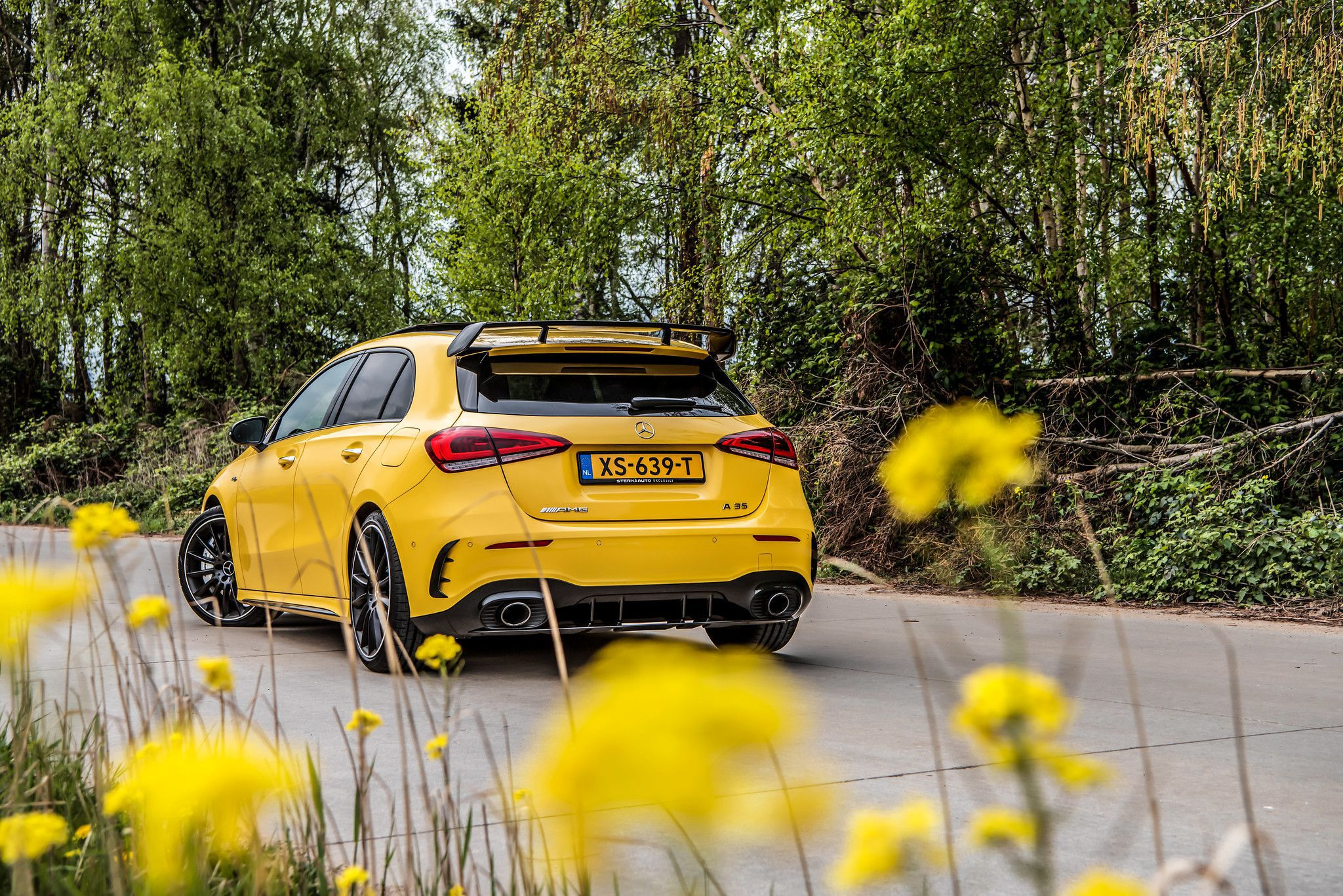 2019 Mercedes AMG A35 rear view
