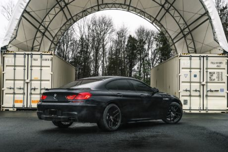 BMW 650i rear side view