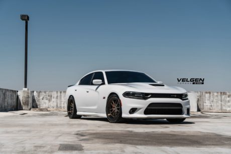 White Dodge Charger Scatpack