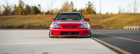 Honda Civic – Red Lowered Coupe