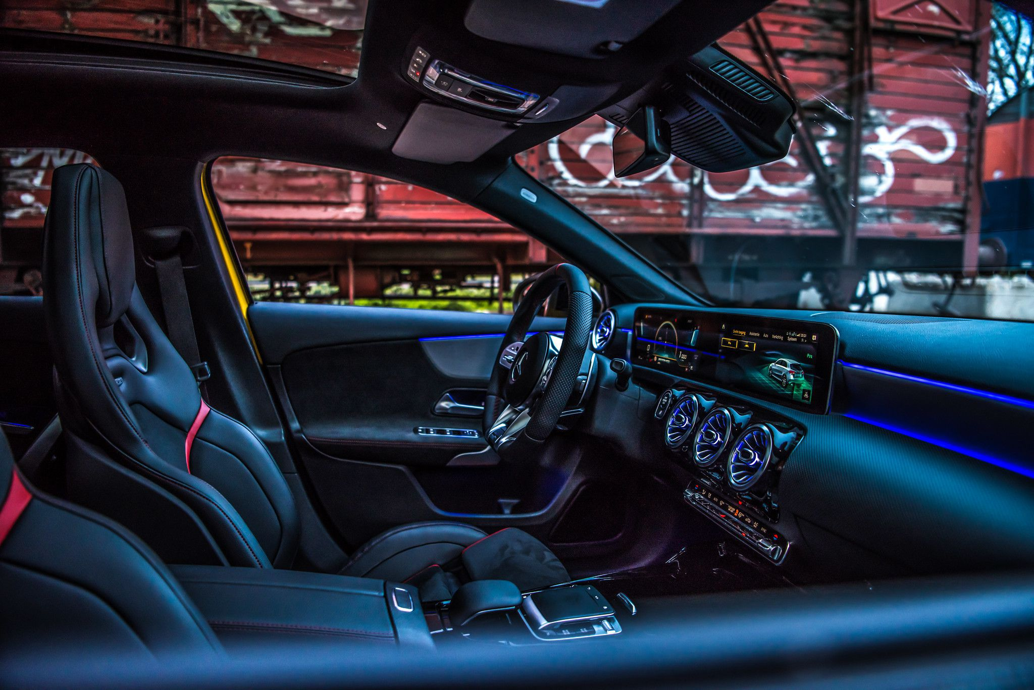 Interior of 2019 Mercedes AMG A35