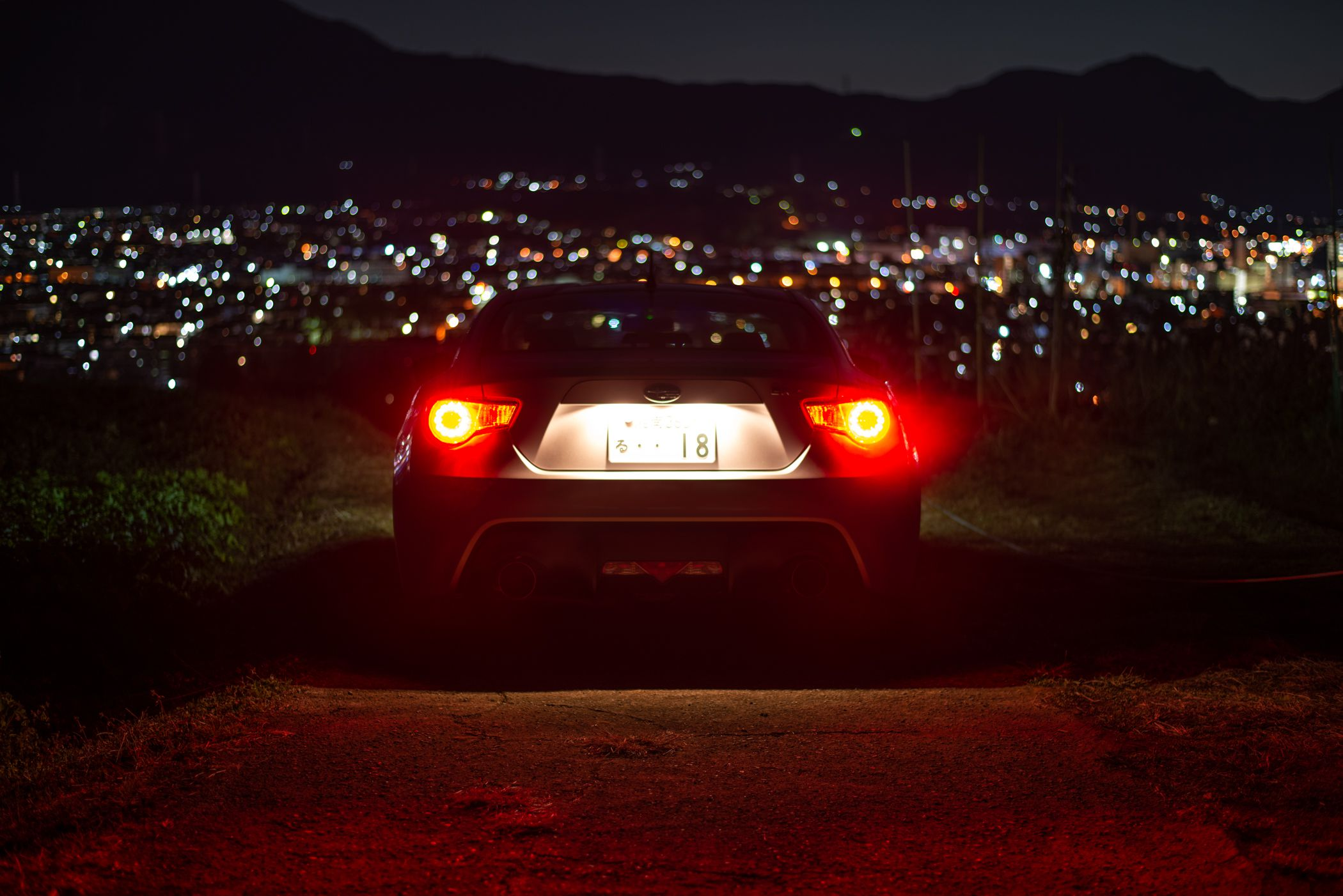 Night and Subaru BRZ