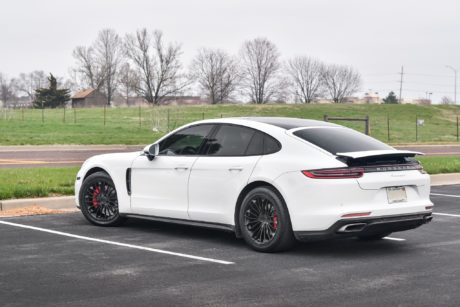 Porsche Panamera 4 on black matte wheels