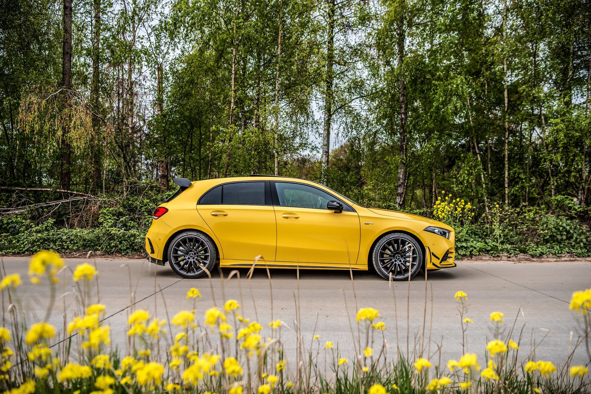 Side view 2019 Mercedes AMG A35