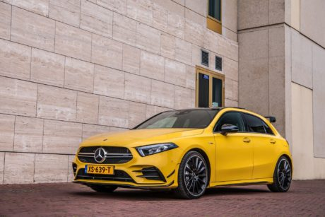 Yellow 2019 Mercedes AMG A35