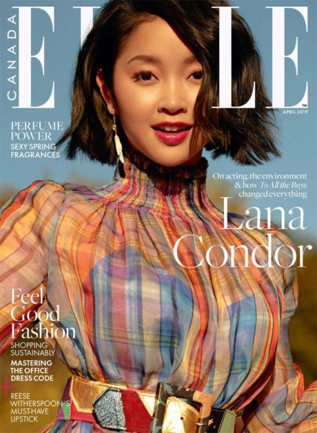 cute Lana Condor cover story for Elle