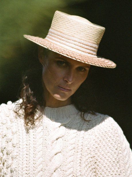 model Tasha Tilberg in a hat
